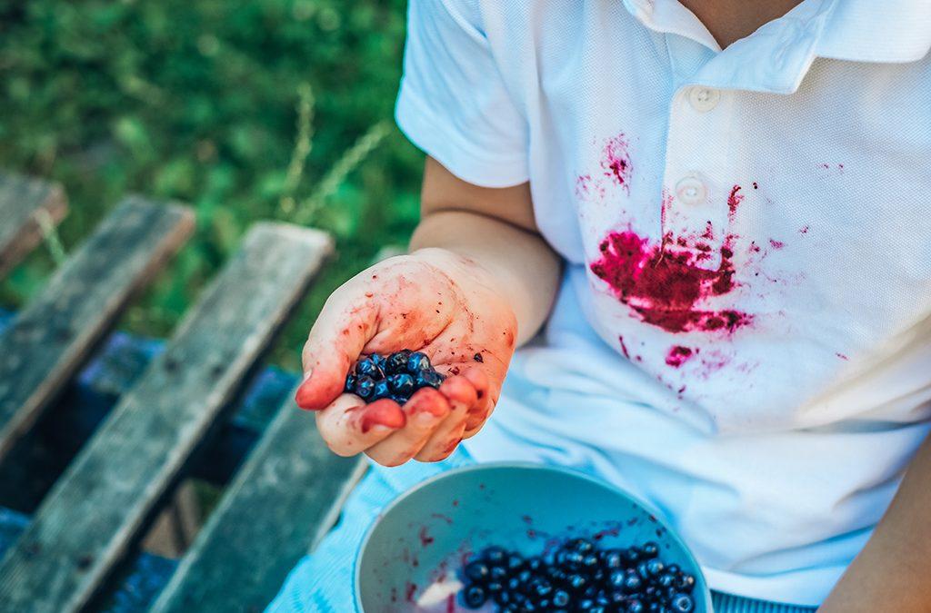Macchie frutta sui vestiti